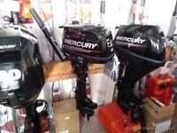 Mercury - f 4hp m 4 stroke short shaft, used only £795 warranty to 2024