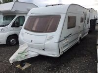 5 Berth Ace Award Nightstar Touring Caravan. 2005 Model in excellent condition with lots of extras