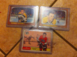 3 nice 1960s hockey cards