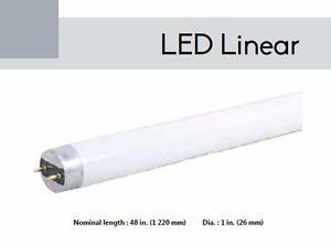4' LED T8 Bulb Tube Light 13 & 15W - 3500-5000k ( Fluorescent Replacement Lamps ) 50,000 Hr Life ( DLC Listed )