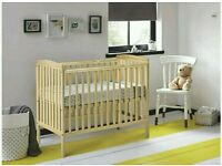 Kinder valley kie cot natural pine. With free mattress. 3 left only.