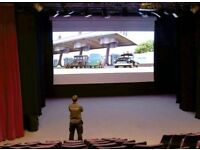 6m Wide Electric Cinema Projection Screen