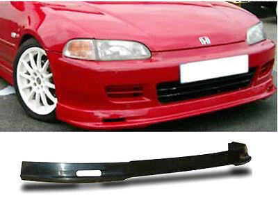 92-95 Civic 2 / 3 Door Poly Urethane Black Add-on Front Bumper Lip Spoiler