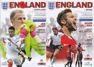* ENGLAND v SCOTLAND & v SPAIN (November 2016 at Wembley - Both Programmes) *