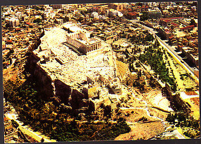 Vintage  Unused Postcard, Greece, Athens, Acropolis from the Air