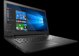 "Lenovo Ideapad 110 15.6"" Laptop £100 only"""" Intel Celeron 1.60 GHz 4GB 1TB sata HD Black"