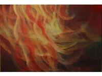 Original oil painting huge 39 inx 59 in ( 100x150 cm)