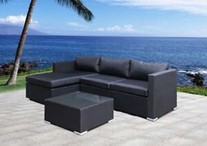 Outdoor sectional noir/gris www.lawnjardin.com NEW!!