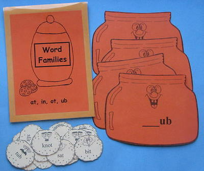 Teacher Made Literacy Center Phonics Resource Word Families   At  In  Ot  Ub