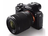 Sony A7 24.3mp with 28-70mm lens, battery grip, lowepro case
