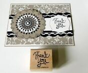 Stampin Up Thank You Stamp