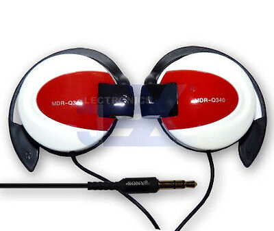 MDR-Q340 White & Red Over Ear Hook Earphones Headphones High Quality for sale  Shipping to India
