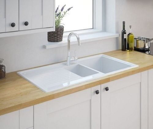 RRP £200* New Burbank 1.5 Ceramic Kitchen Sink from B&Q Cooke ...