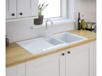 *RRP £200* New Burbank 1.5 Ceramic Kitchen Sink from B&Q Cooke & Lewis