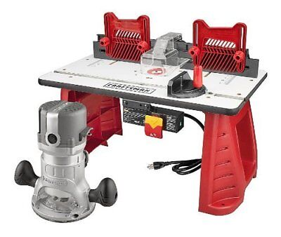 Craftsman Router and Router Table Combo Brand New Projects Boards Fence Feather