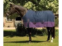 Thor turnout rug size 5' 9 purple/navy new
