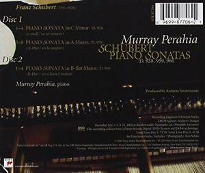 Murray Perahia plays Schubert Piana Sonatas D958-D960 (2CD) - Wien, Österreich - Murray Perahia plays Schubert Piana Sonatas D958-D960 (2CD) - Wien, Österreich