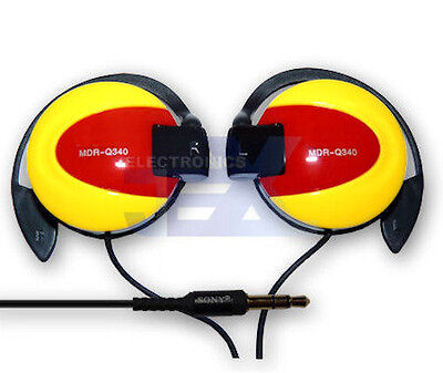 MDR-Q340 Yellow & Red Over Ear Hook Earphones Headphones High Quality for sale  Shipping to India