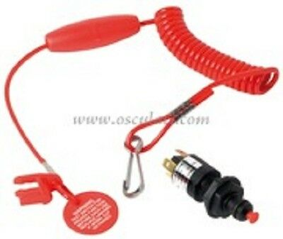 EMERGENCY CUT OFF SWITCH LANYARD OUTBOARD KILL CORD IGNITION FLOATING KSWITCH