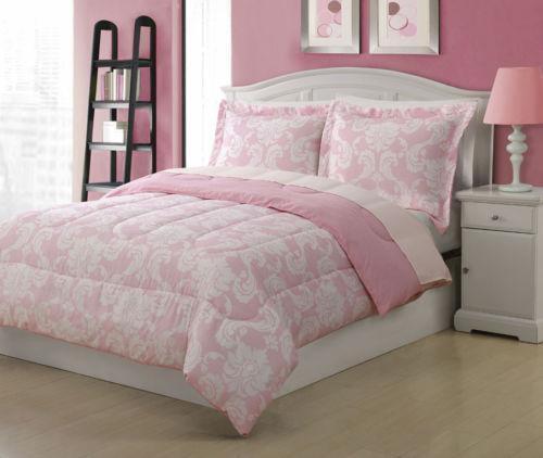 pink twin bedding ebay. Black Bedroom Furniture Sets. Home Design Ideas