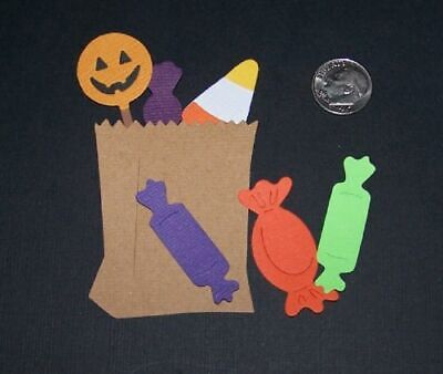 2 Trick or Treat Bag Sets PAPER Die Cuts / Scrapbook & Card Making
