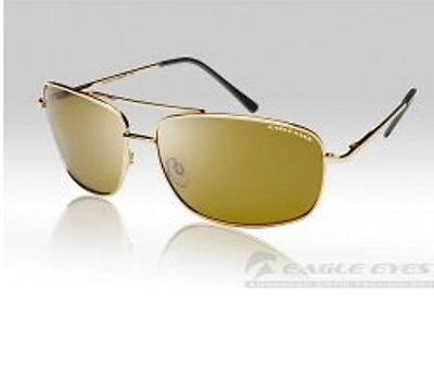 EAGLE EYES NAVIGATOR GOLD POLARIZED SUNGLASSES; Model # 14100  NEW with (Numbered Sunglasses)