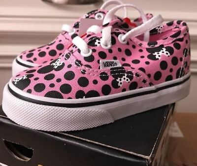 NEW Vans x Disney Minnie Mouse Polka Dots Pink/Black Toddler Baby Girls Shoes (Pink Baby Vans)