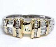 14k Yellow Gold Ring Mount