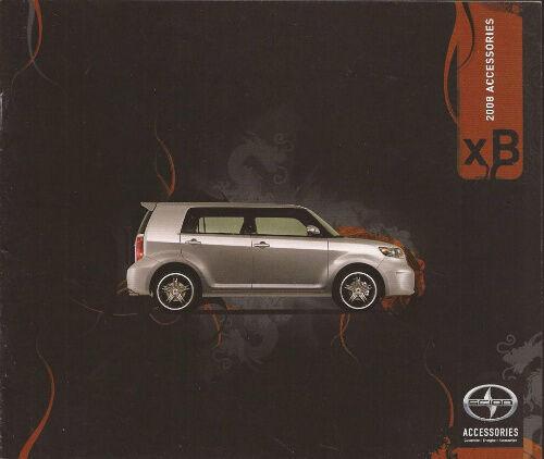 2008 08 Scion XB  Accessories  Sales brochure MINT