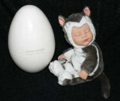 Anne Geddes Newborn Doll (New in Box Anne Geddes Newborn Kitten Doll in Egg, 2007 RARE)
