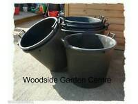 11 x Large Plastic 100Ltr Pot with Handles for Garden