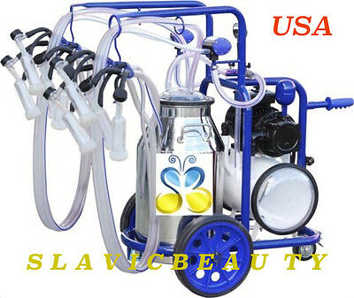 Milker Goats Electric Milking Machine X4goats Vacuum Pump 304l Stainlessextras