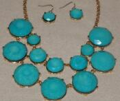 J Crew Bubble Necklace Turquoise