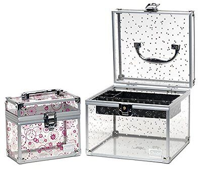 Caboodles Prima Donna Medium Case With Holographic Stars & Pink Dots Bonus Case 11