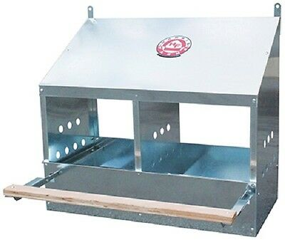 Harris Farms # 1254 2 Hole Galvanized Chicken / Poultry Nesting  Box