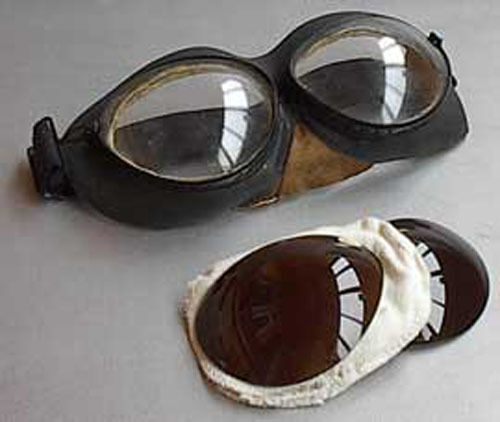 Spare PO-1M TINTED LENSES (85%, 75%, 15%, 2%) for russian pilot goggles, NEW