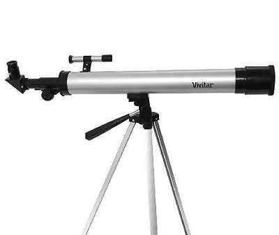 Vivitar TEL50600 60X/120X Telescope Refractor with Tripod (Black) With Cases
