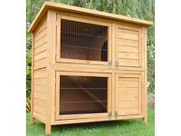 Top quality double-tier hutch with waterproof cover