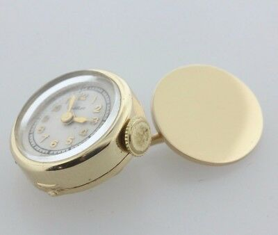 Antique Estate 1940's Cartier Paris 14K Solid Yellow Gold Shirt Cufflink Watch