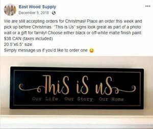 """""""This Is Us"""" wooden sign"""