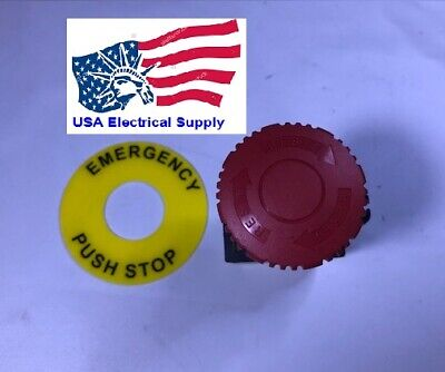 S2er-e3rb Autonics Red Mushroom Emergency Stop Push Button Switch Nc 22mm