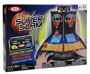 Ideal Electronic Super Slam Basketball Tabletop Game with Digita