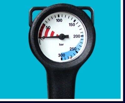 Finimeter 300 bar mit Messinggehäuse komplett gemäß gültiger EN 250 Norm