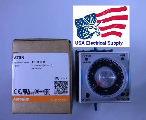 AT8N Industrial Analog Timer 100/240AC-24/240DC With Sock Base