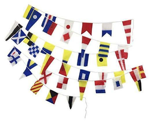 International Code Flag - 40 Flags Bunting - 12 Feet - Nautical/Boat/Beach