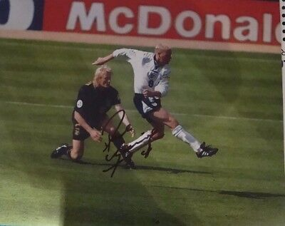 PAUL GASCOIGNE GAZZA EURO 96 HAND SIGNED 16x12 Reduced Now £17.50