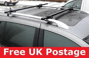 Lockable cross Car Roof Rack Rail Bars for vw passat estate new