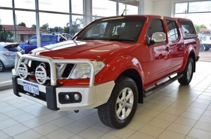 2013 Nissan Navara D40 MY12 ST-X (4x4) Red 7 Speed Automatic Dual Cab Pick-up Morley Bayswater Area Preview