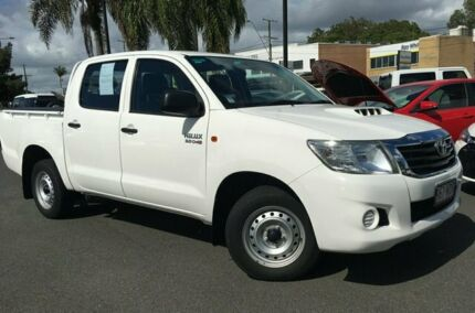 2015 Toyota Hilux KUN16R MY14 SR Xtra Cab 4x2 White 5 Speed Manual Utility Upper Mount Gravatt Brisbane South East Preview