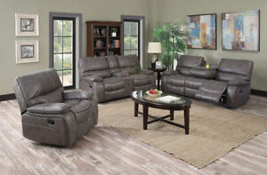 Leather Air Recliner Set